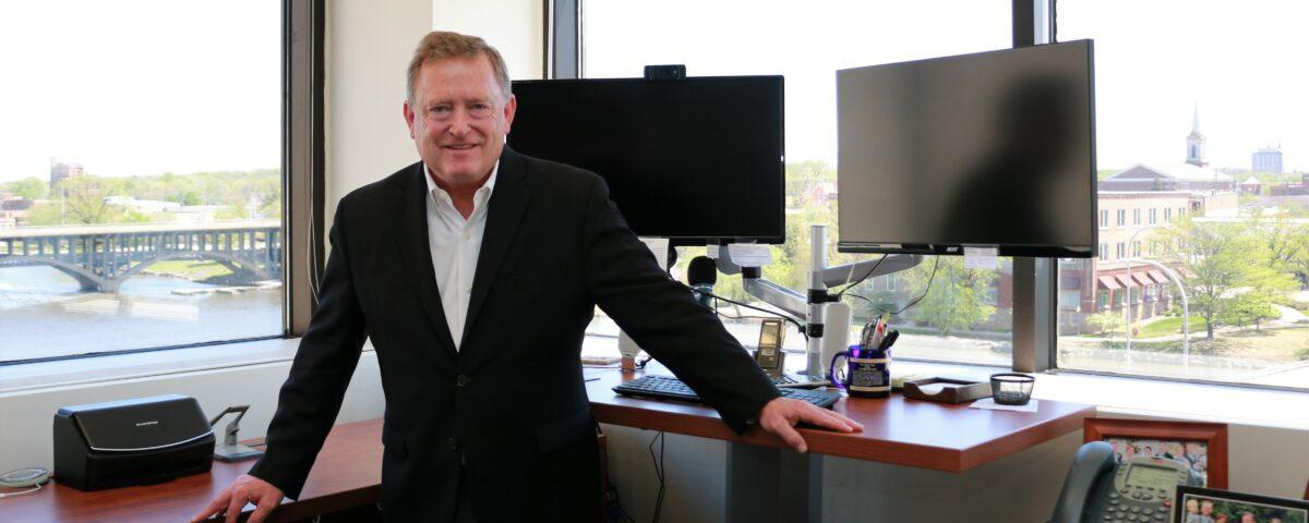 Scott Sullivan in his downtown office