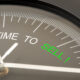 A gauge marking time to sell